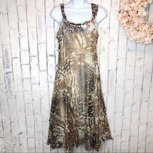 Komarov leopard print midi dress. Size large